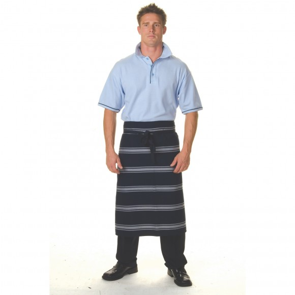 3/4 Blue and White stripe apron